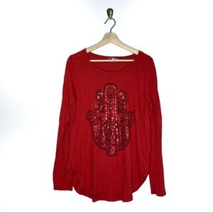 Urban Outfitters Lucky Lotus Long Sleeve Top
